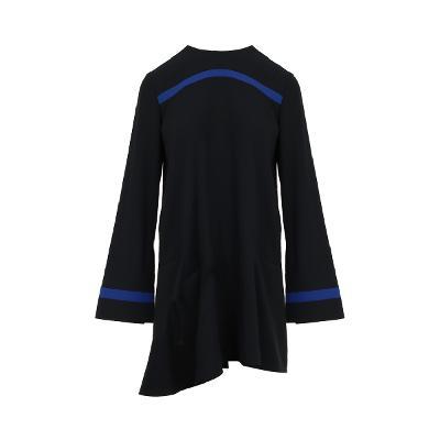 blue point unbalance hem dress